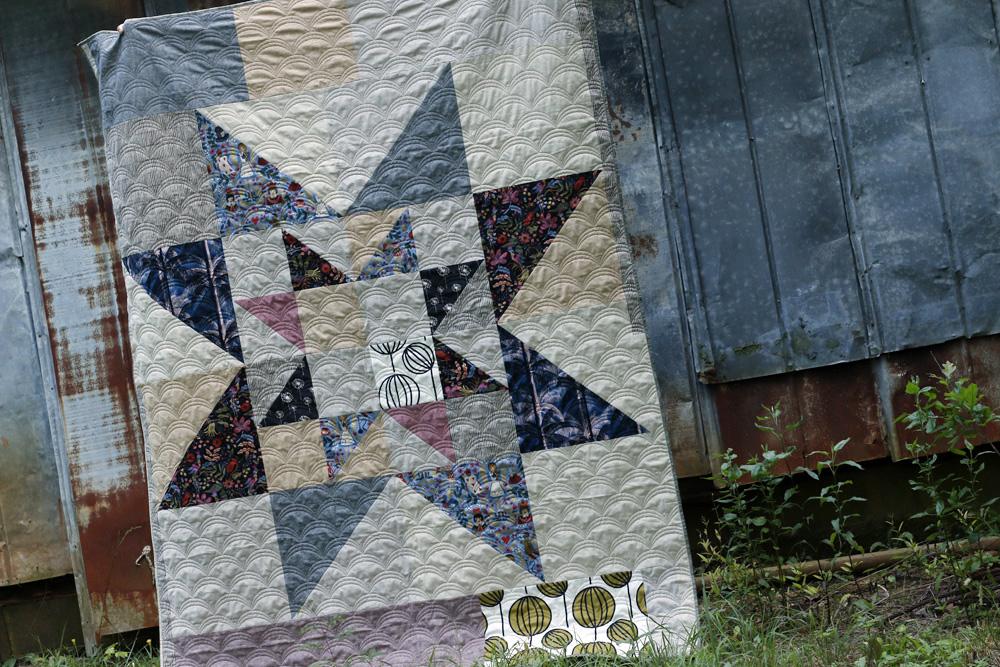 finished essex linen quilt