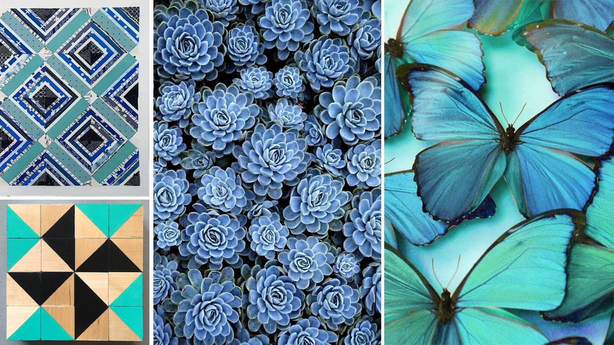 Bijou Lovely patchwork ,  mmm Crafts quilt blocks ,  succulents ,  butterflies .