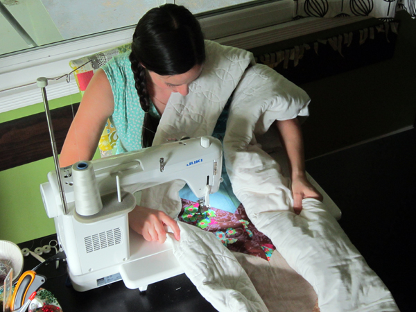 Quilting Posture. Stitched in Color