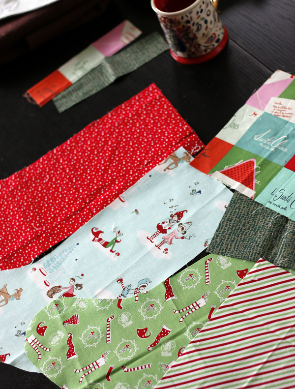 Holiday fabrics for stockings. Stitched in Color.jpg