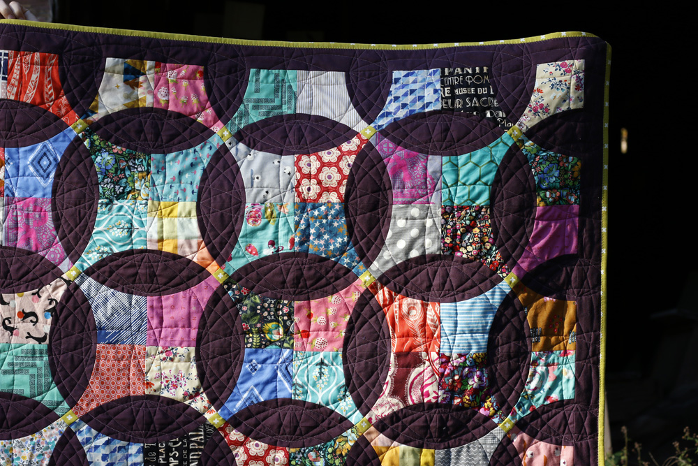 Custom quilting for Flowering Snowball. Stitched in Color.jpg