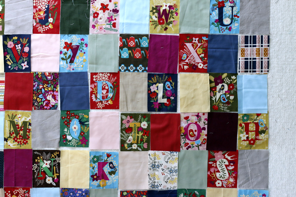multi color solid patchwork. StitchedinColor.jpg