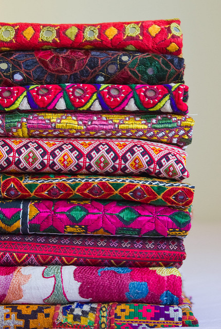 woven textiles from Turkey, Thailand and India, photo by  Arya Kamath