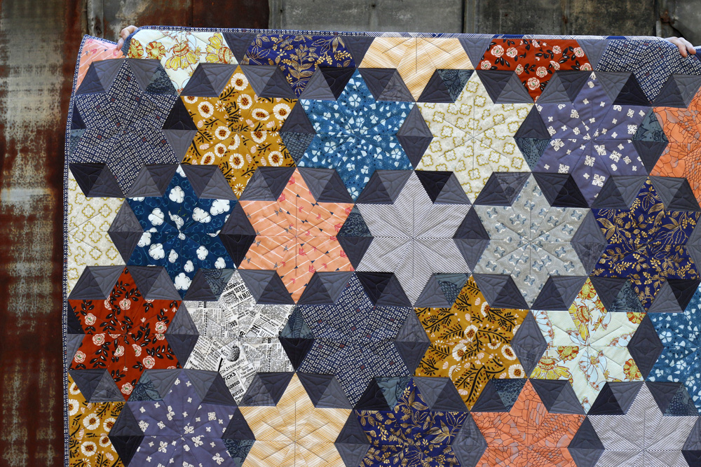 Autumn Fading star quilt. Stitched in Color.jpg