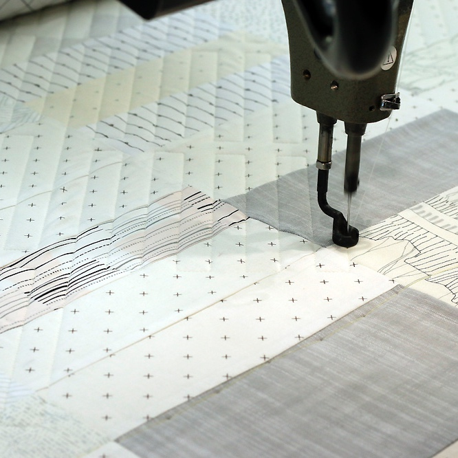 machine quilting. Stitched in Color