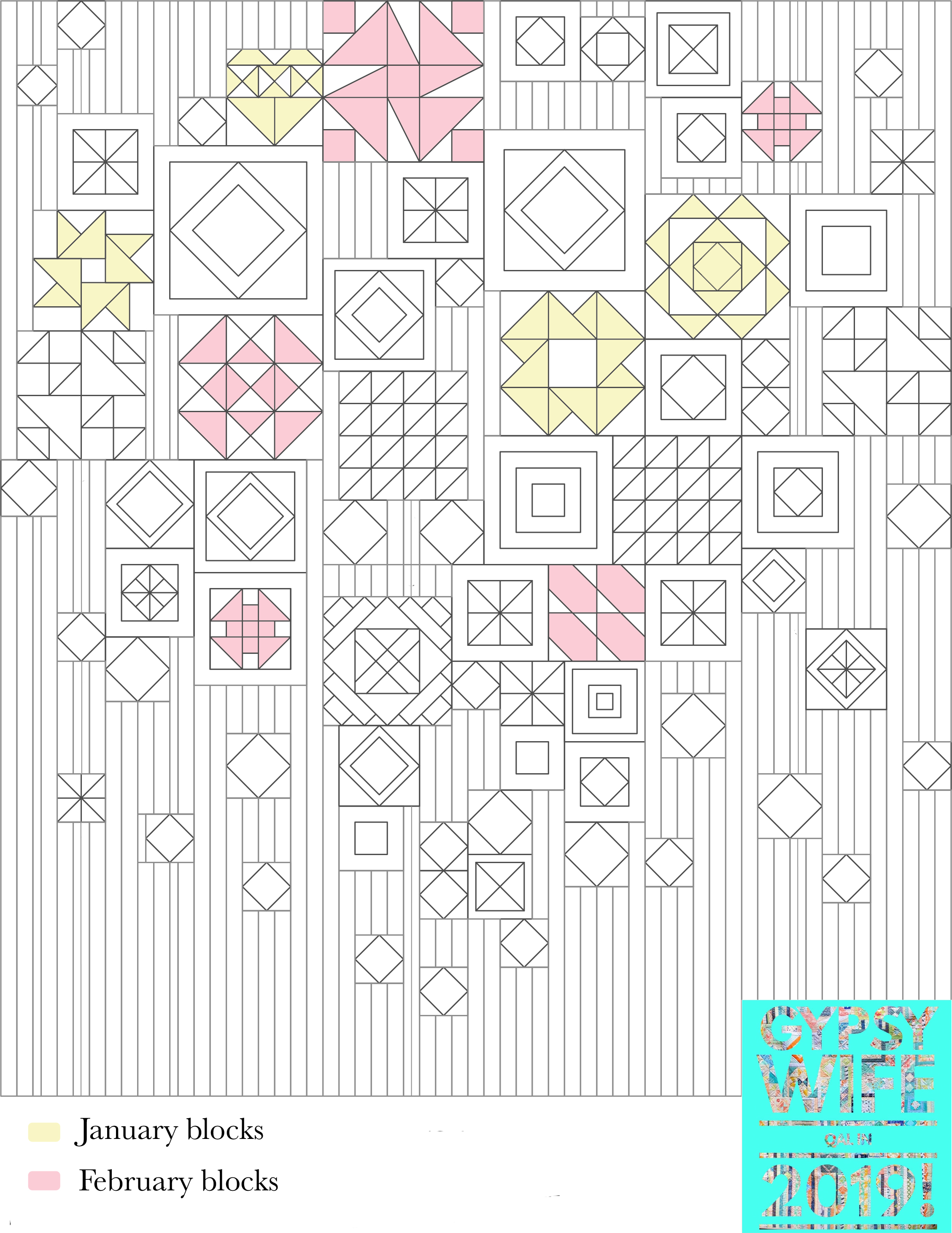 February Gypsy Wife quilt map. Stitched in Color.jpg
