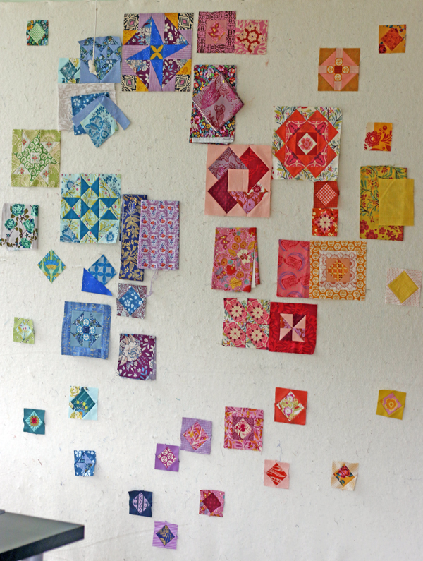 Gypsy Wife on Design wall. Stitched in Color.jpg