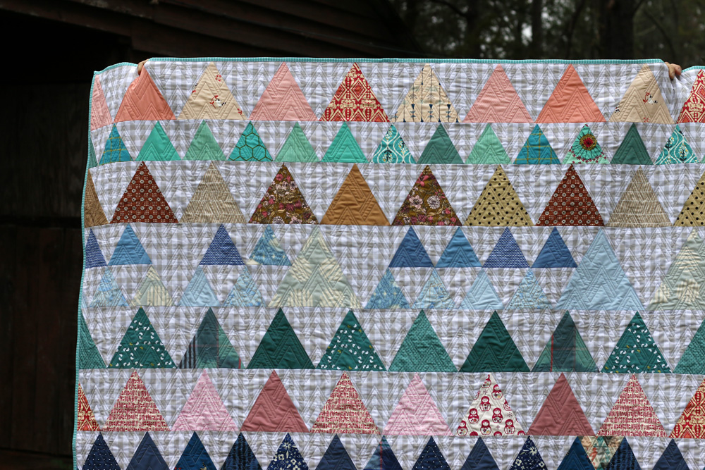 Triangle quilt close. Stitched in Color.jpg