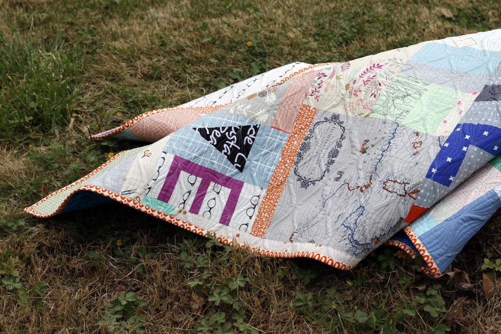 Improv patchwork quilt. Stitched in Color.jpg