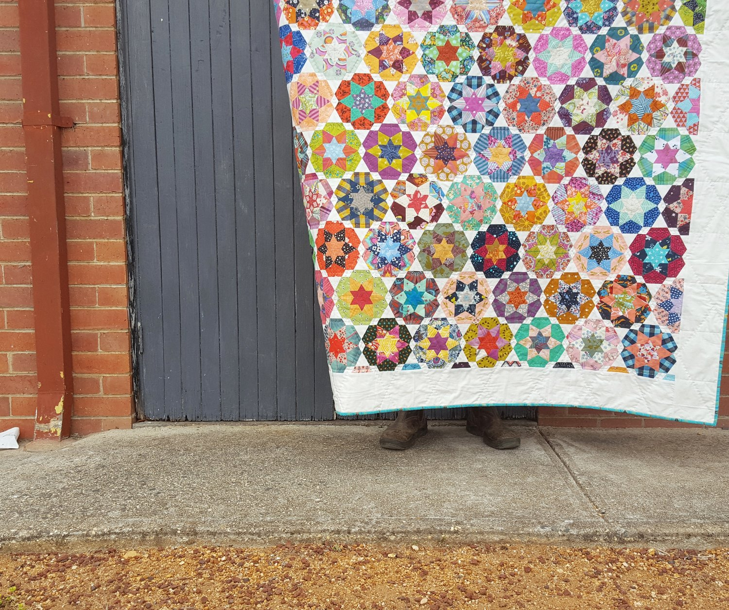 Ice Cream Soda quilt, by Tales of Cloth