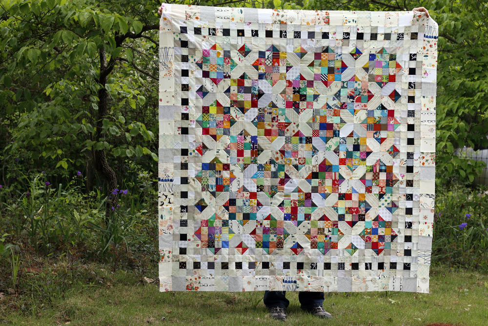 Crossroads quilt top. Stitched in Color.jpg
