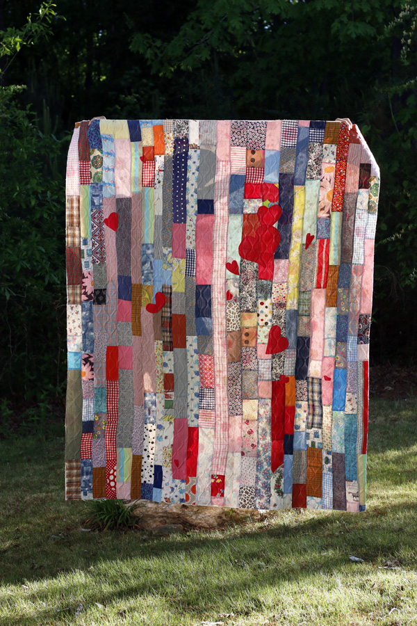 Vintage strip quilt. Stitched in Color.jpg