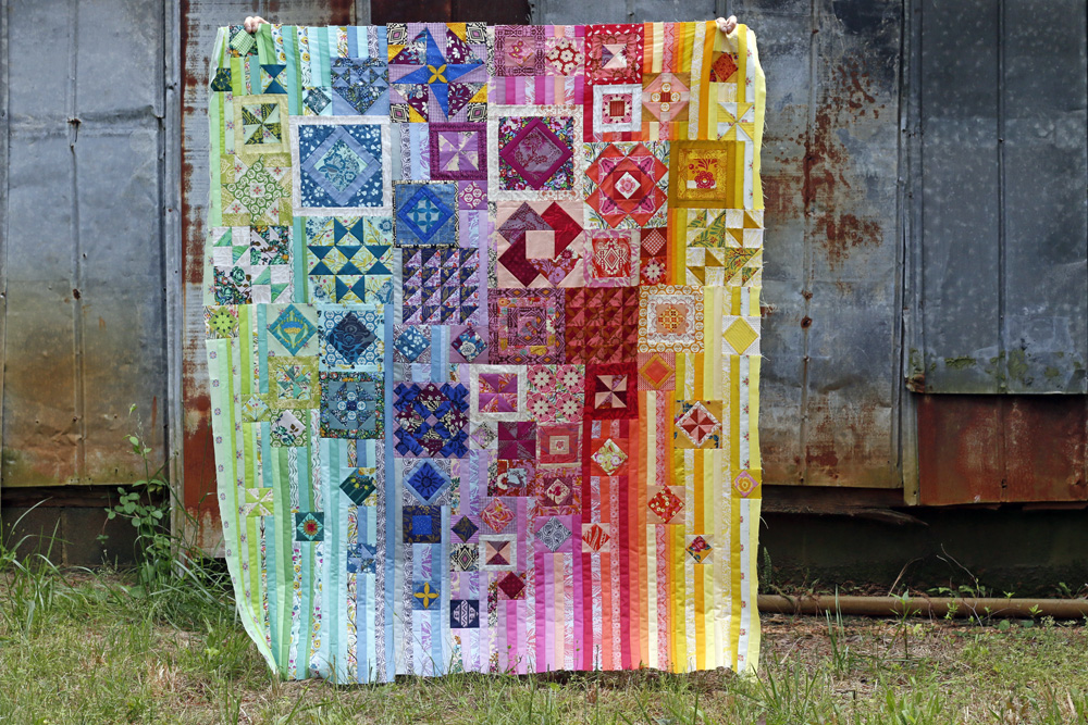 Complete Gypsy Wife quilt top. Stitched in Color.jpg