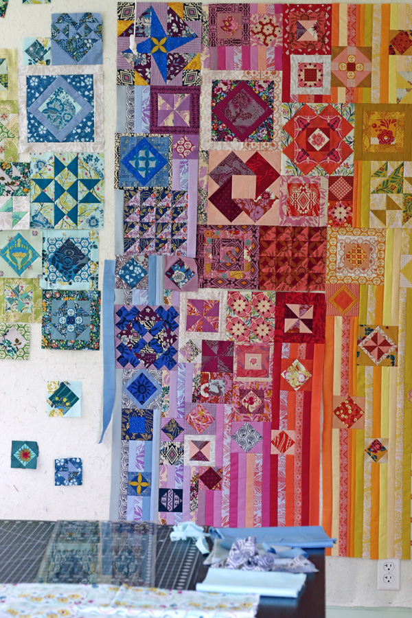Assembling my Gypsy Wife quilt. Stitched in Color.jpg