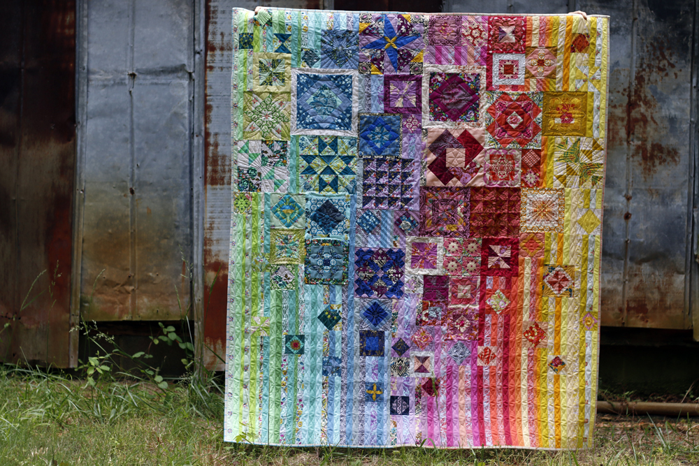 Rainbow Gypsy Wife quilt. Stitched in Color.jpg