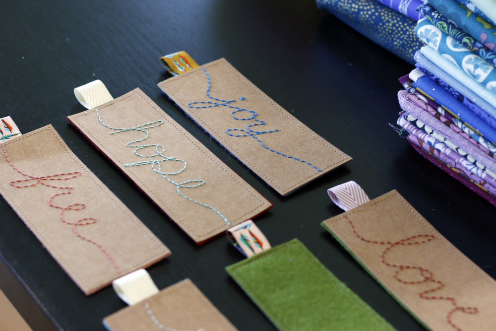 Joy, love, free bookmarks. Stitched in Color.jpg