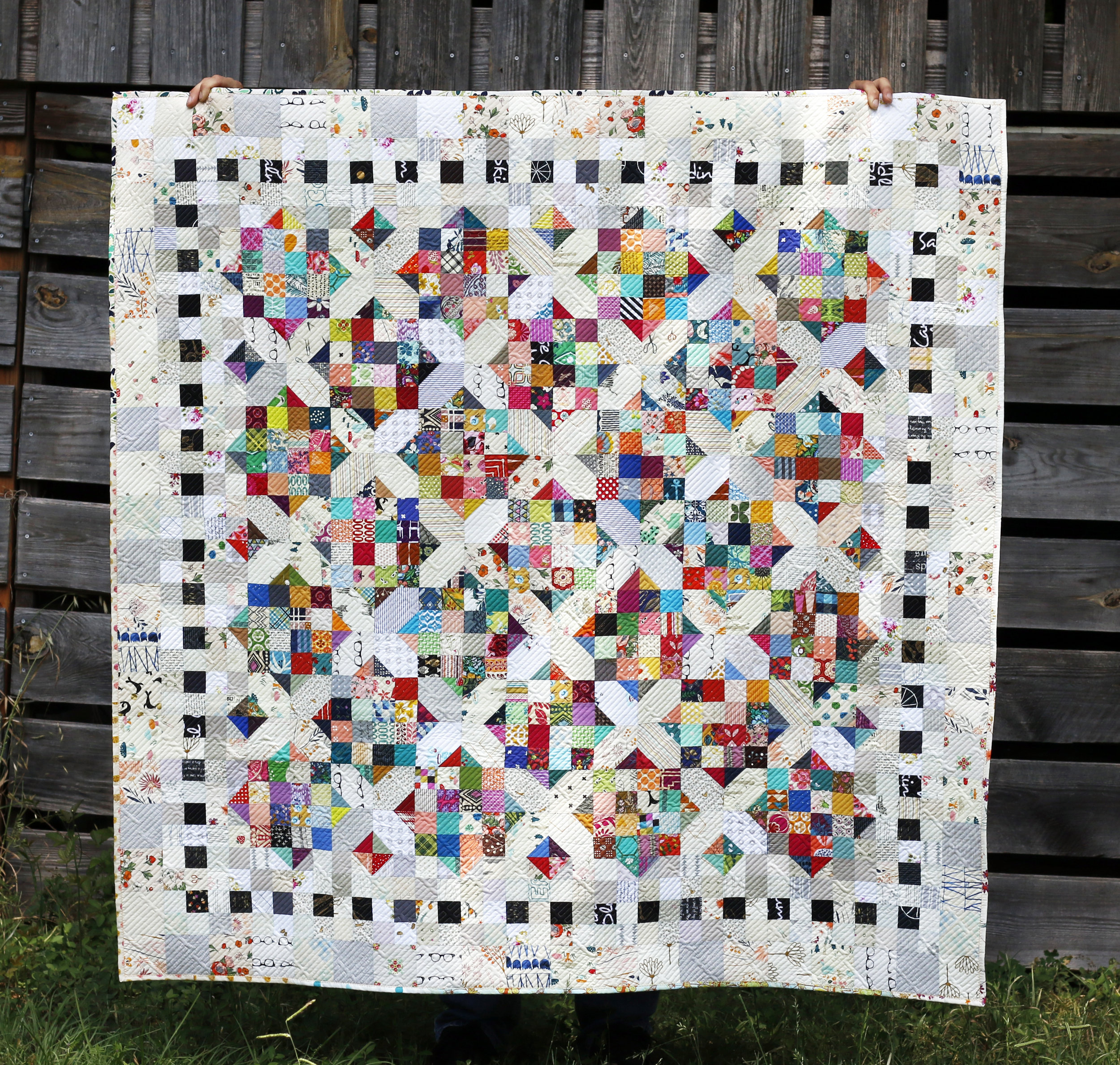 Full Scrappy Cross Roads Quilt. Stitched in Color.jpg