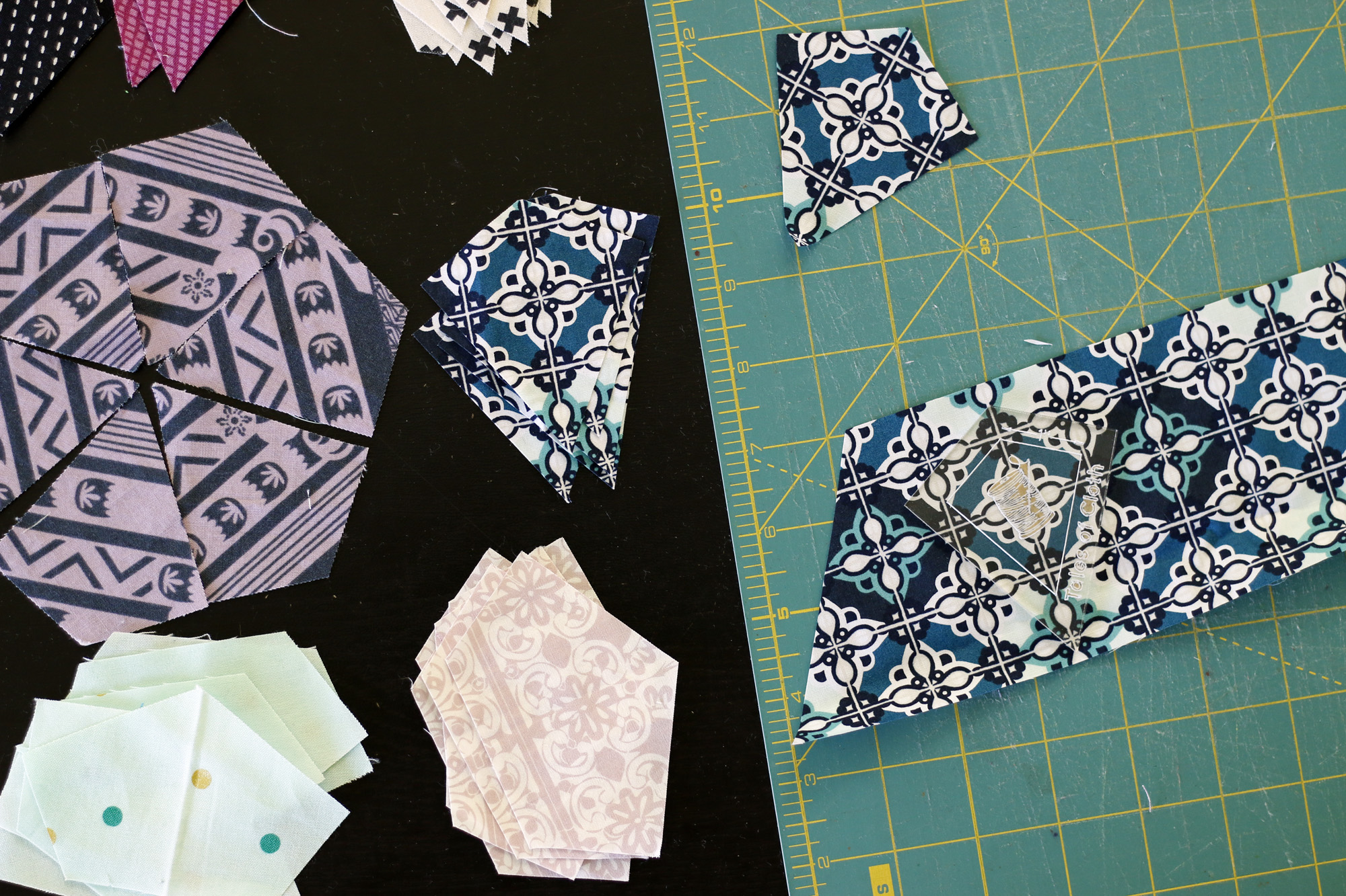 Cutting for English Paper Piecing. Stitched in Color.jpg