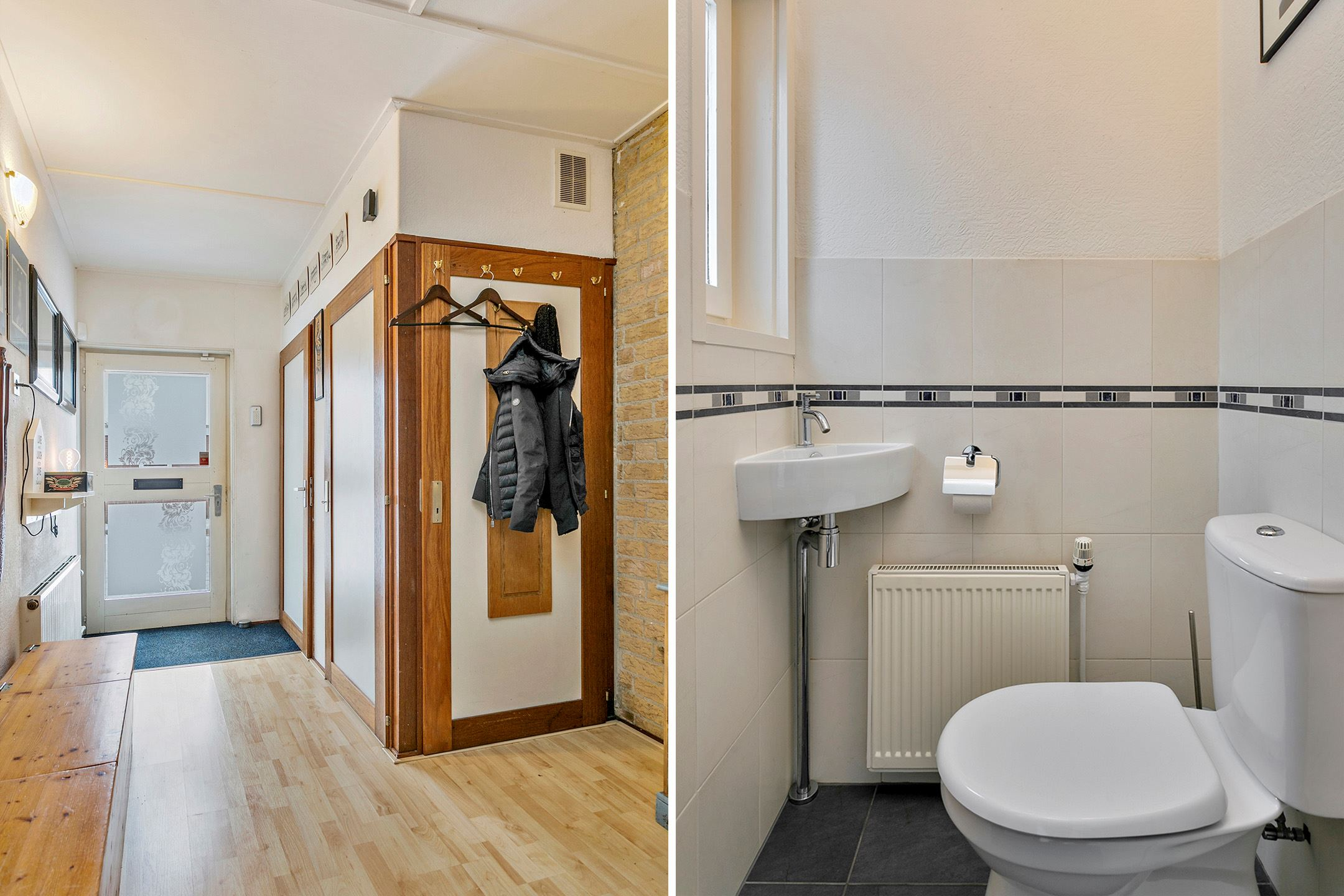 this is a  spacious  Dutch entry + typical guest toilet