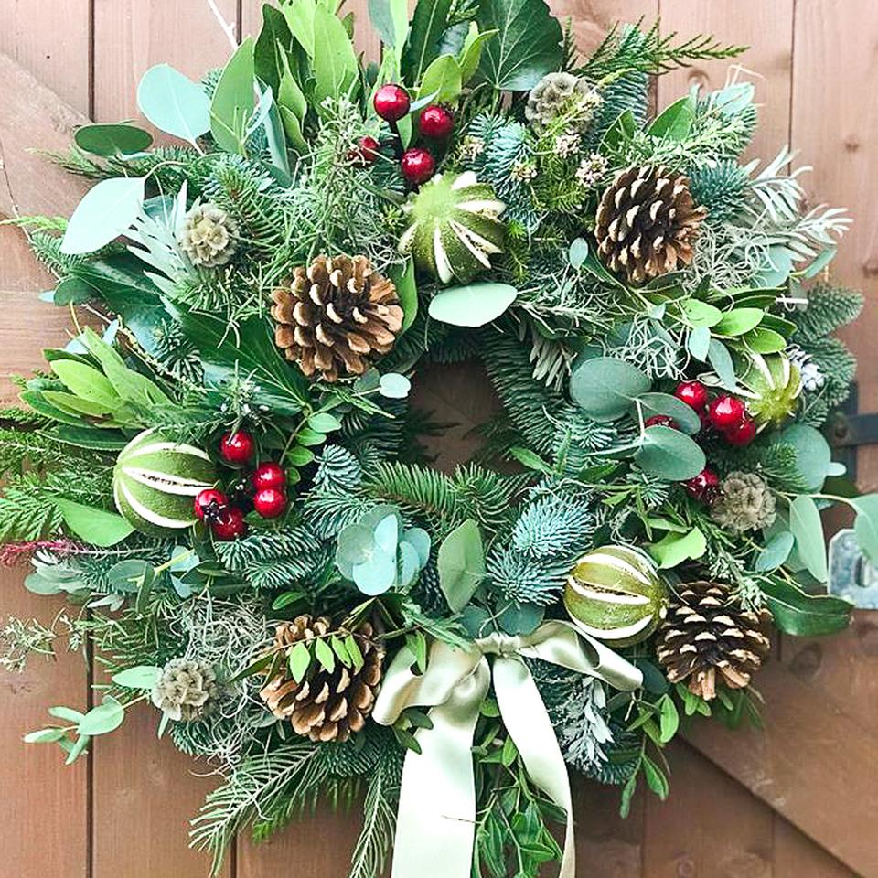 Fresh Christmas Wreath  workshop