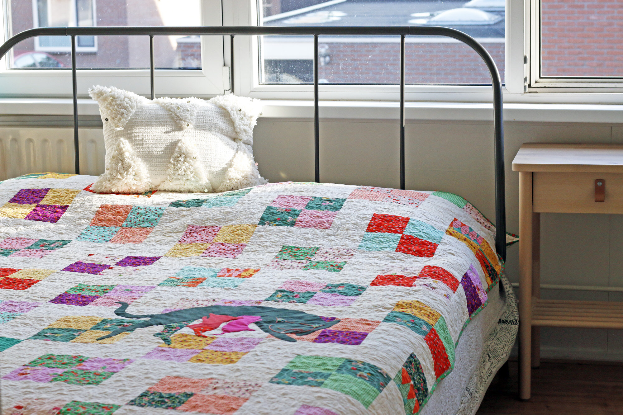 Trixie Cat quilt. Stitched in Color.jpg