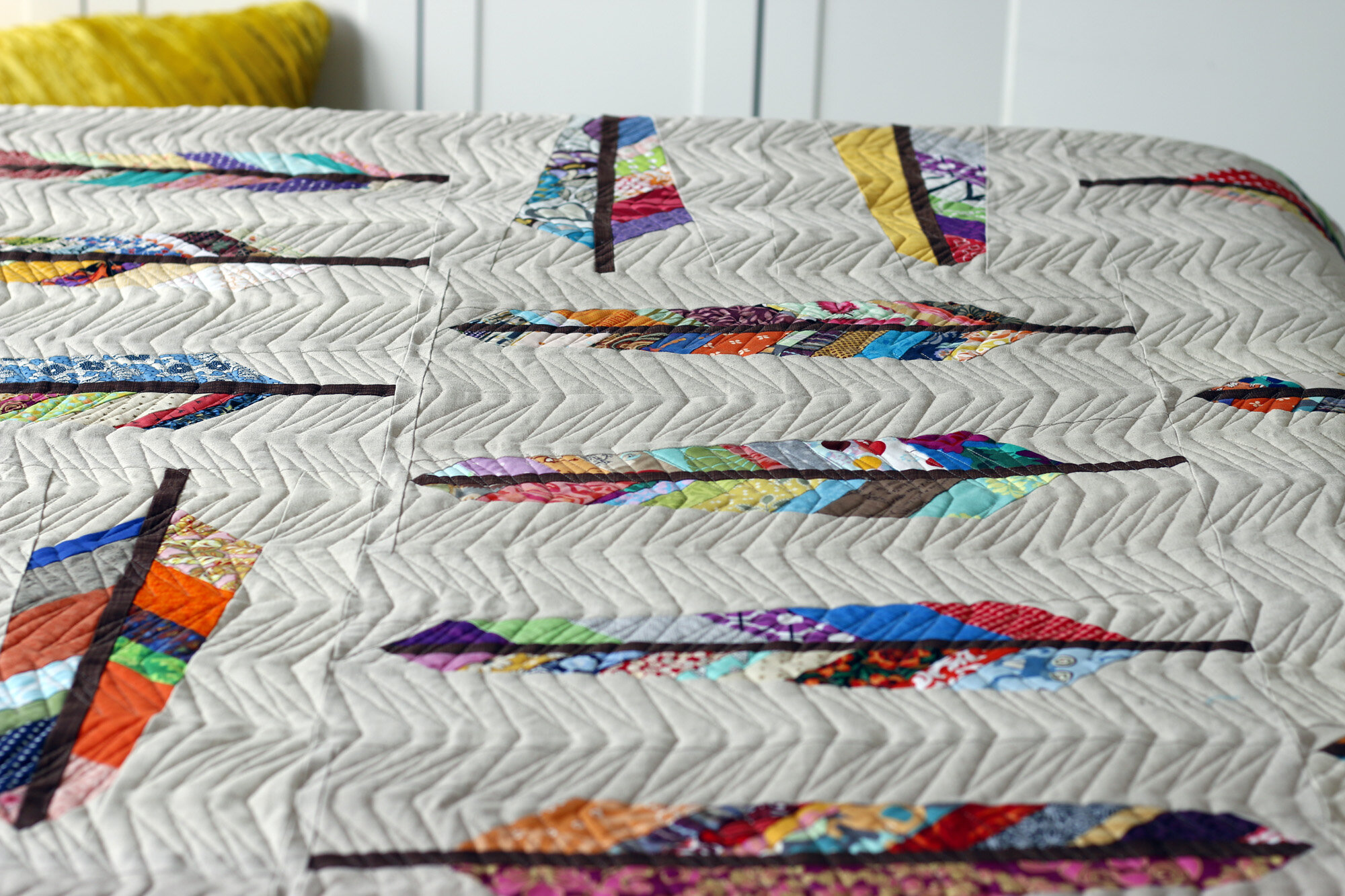 Feather Bed longarm quilted. Stitched in Color.jpg