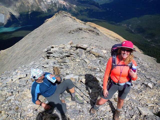 Mt. Marble, on the high ridge with Lake Brazeau below left. Photo Van J. Konrad