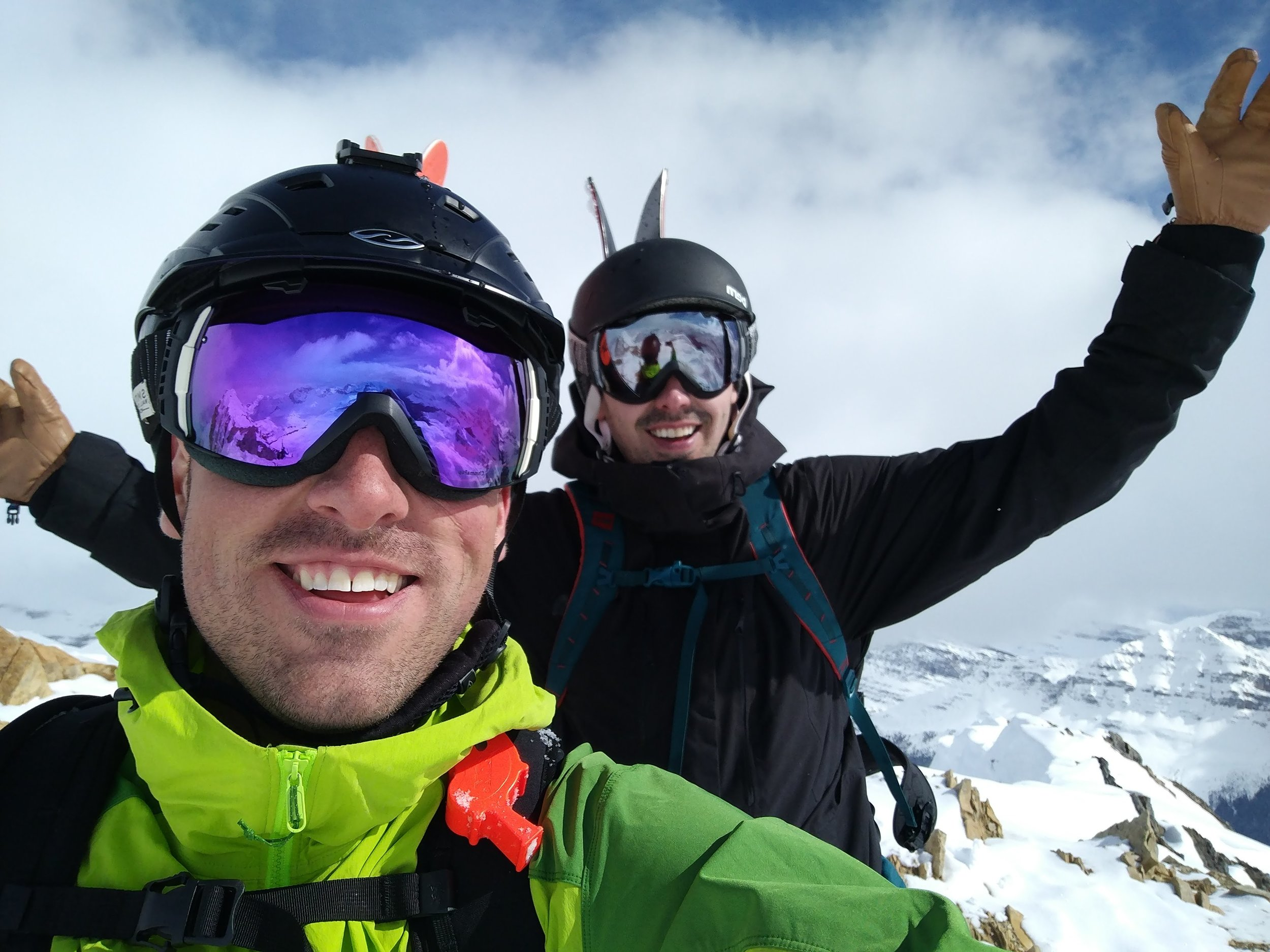Jake and Jarett on top of the world at Cirque Peak last season on a BRMP trip (formerly WIM+)