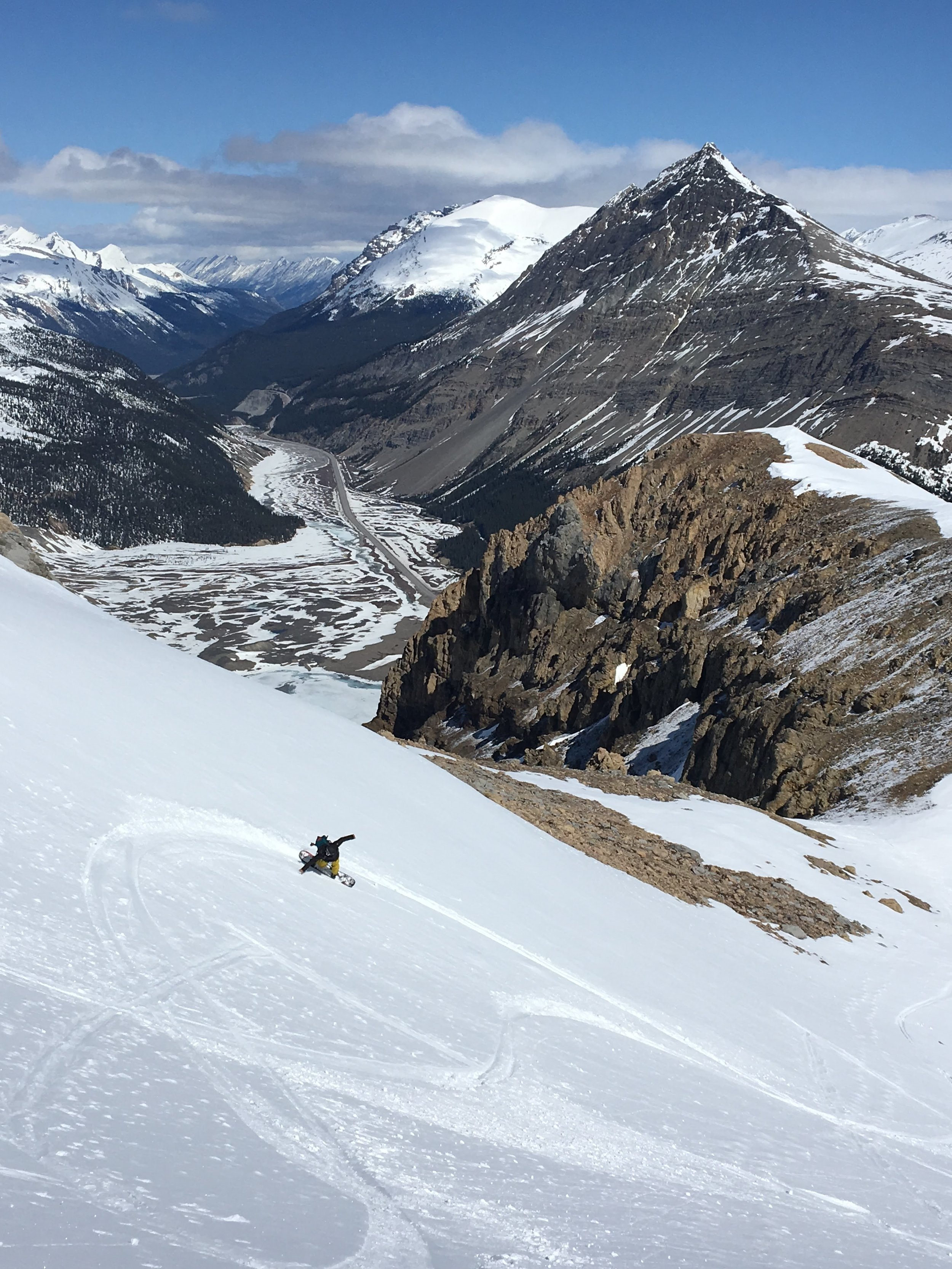 BRMP mentee laying down some nice lines on Mount Athabasca last season