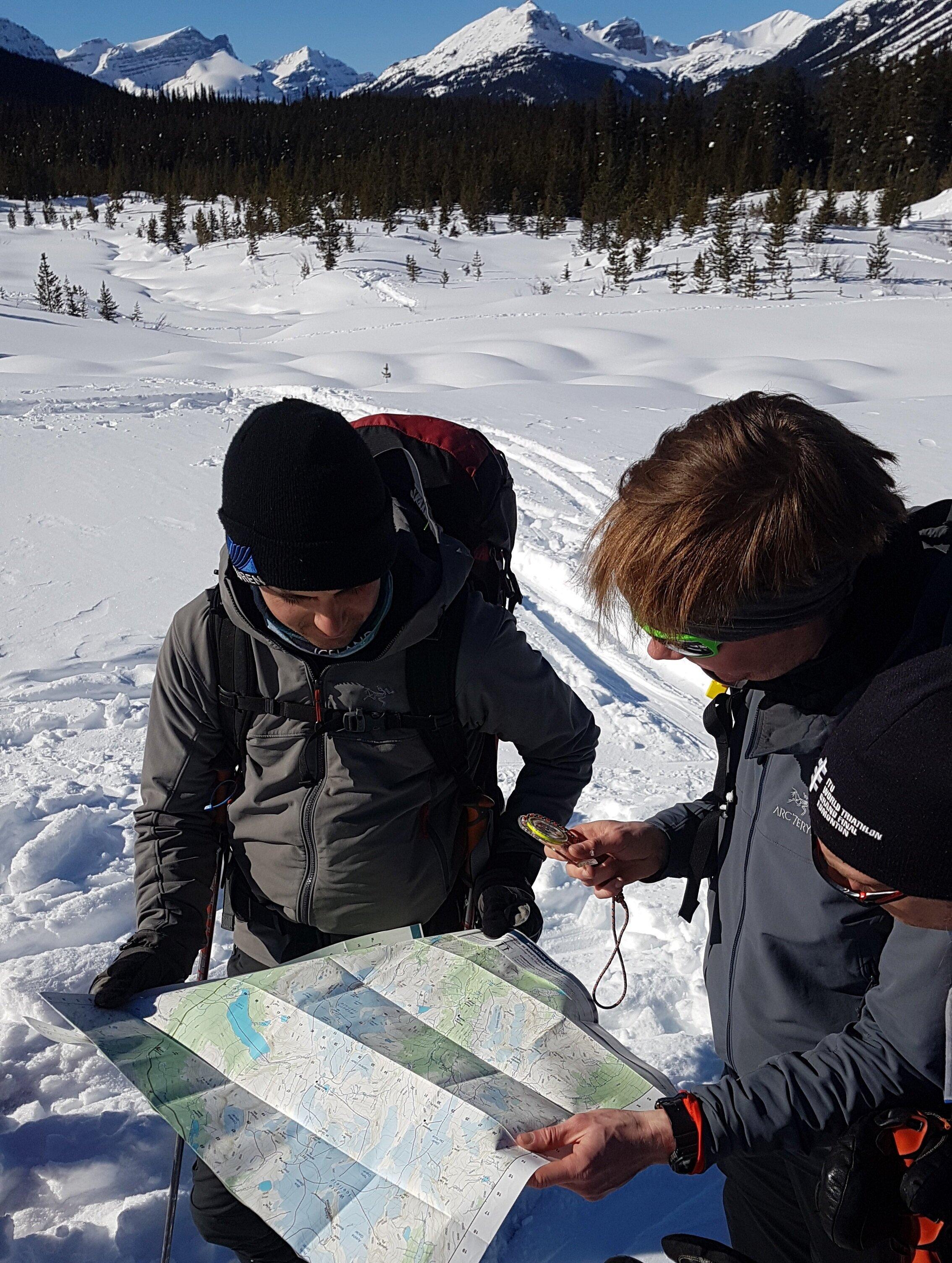 BRMP participants confirming the way up (PC: D.McLachlan)