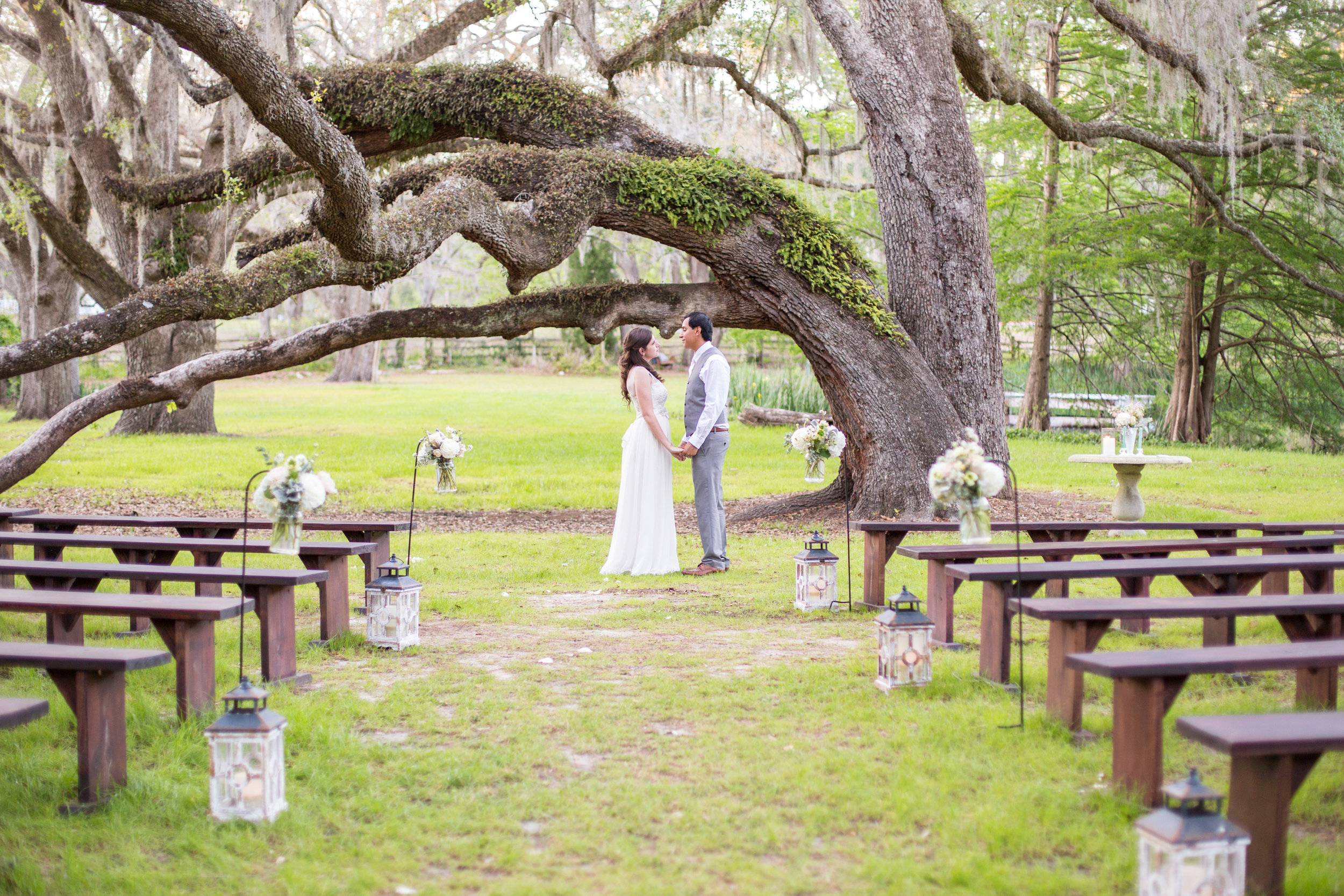 couple_woods_wedding_marriage_southernpines_ceremony_florida