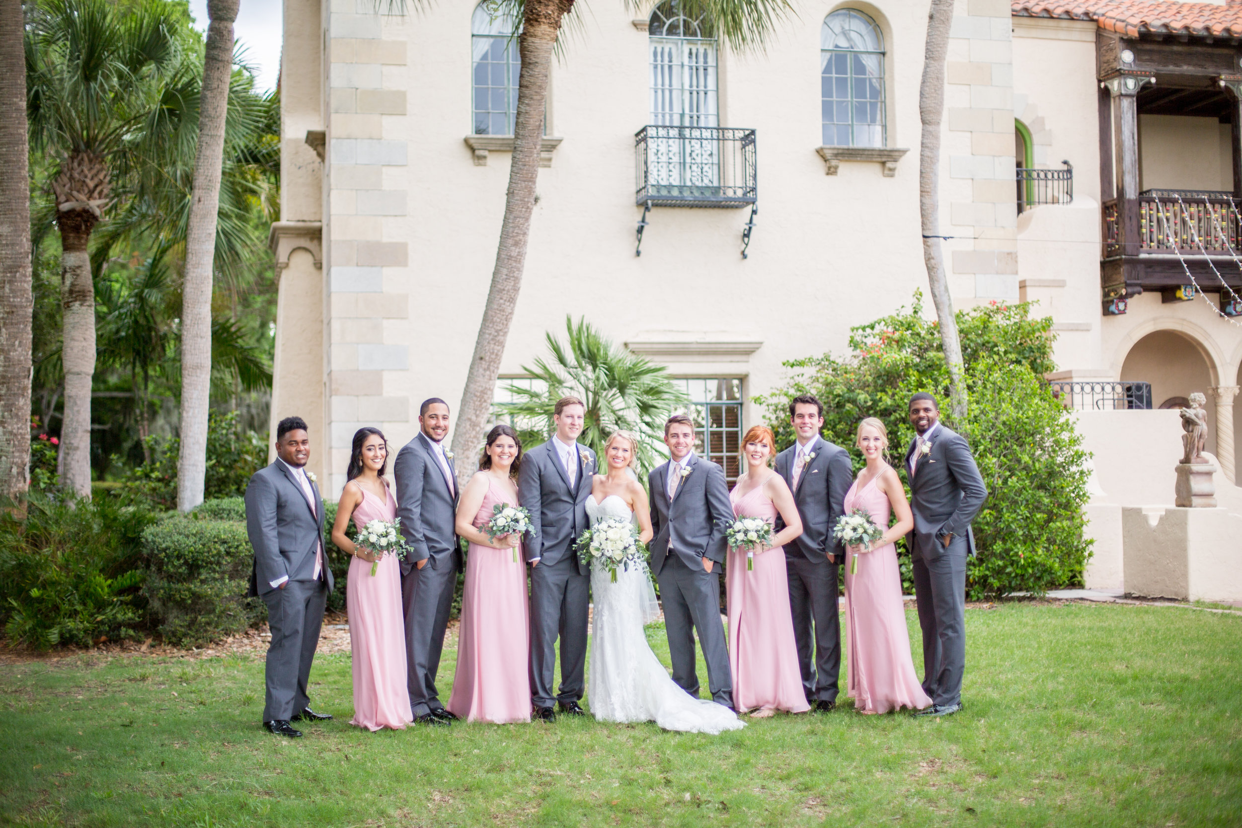 Powel Crosley Estate   Wedding   Pink and Gold Wedding   Wedding Portraits  Wedding Party   Sarasota Weddings   Spring Wedding   Jess Anne Photography