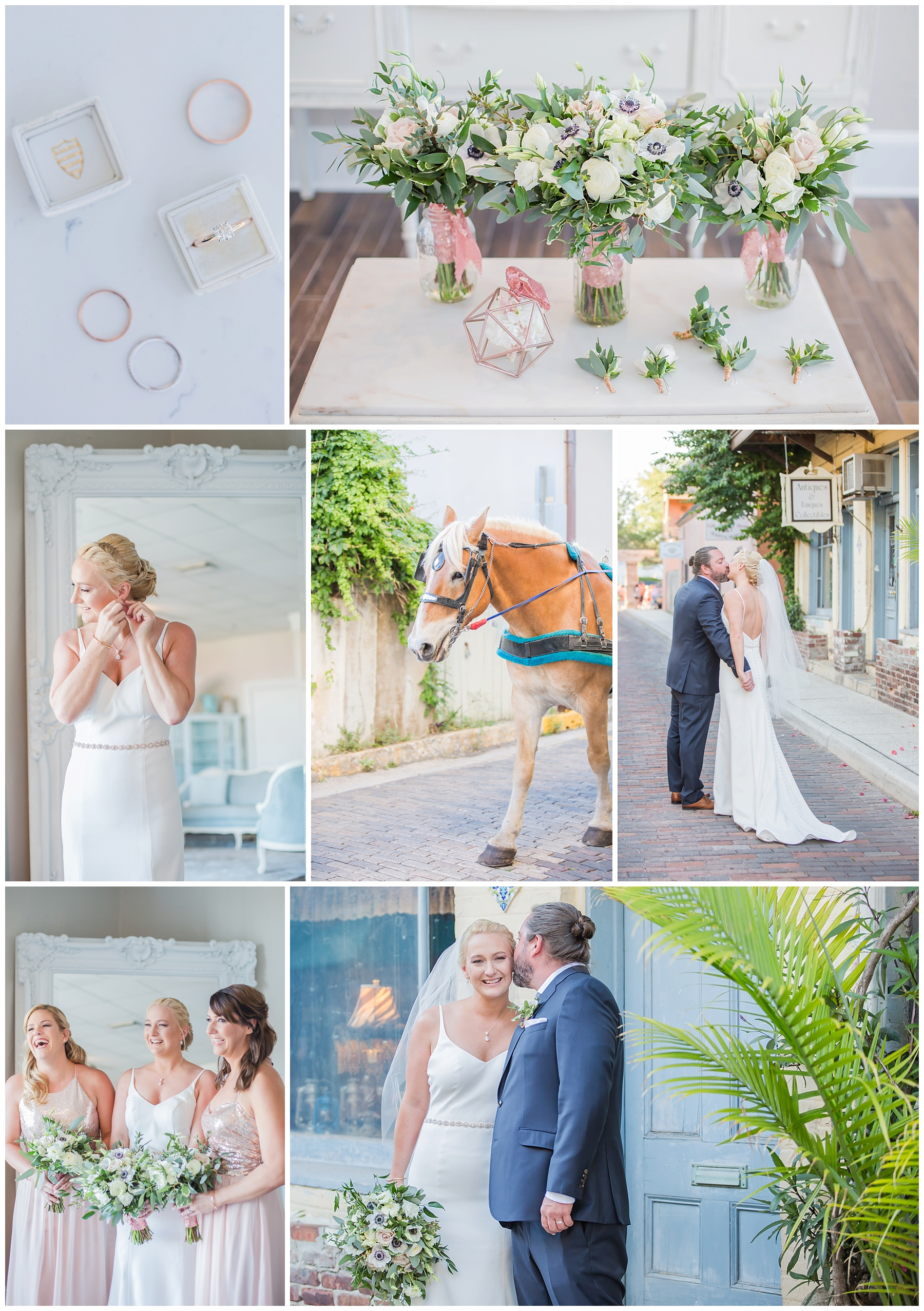Jennifer + Steve's gorgeous wedding at The White Room! I had such a blast getting to work alongside Savannah for this wedding in Saint Augustine!