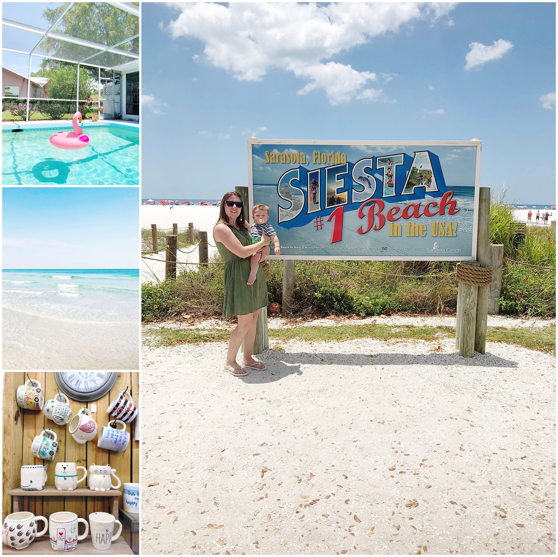 Beach day at Siesta Key, exploring Siesta Key, and pool time at grandpa's house! I had such a great time on vacation with Lindsey, Paulie, and Logan!!