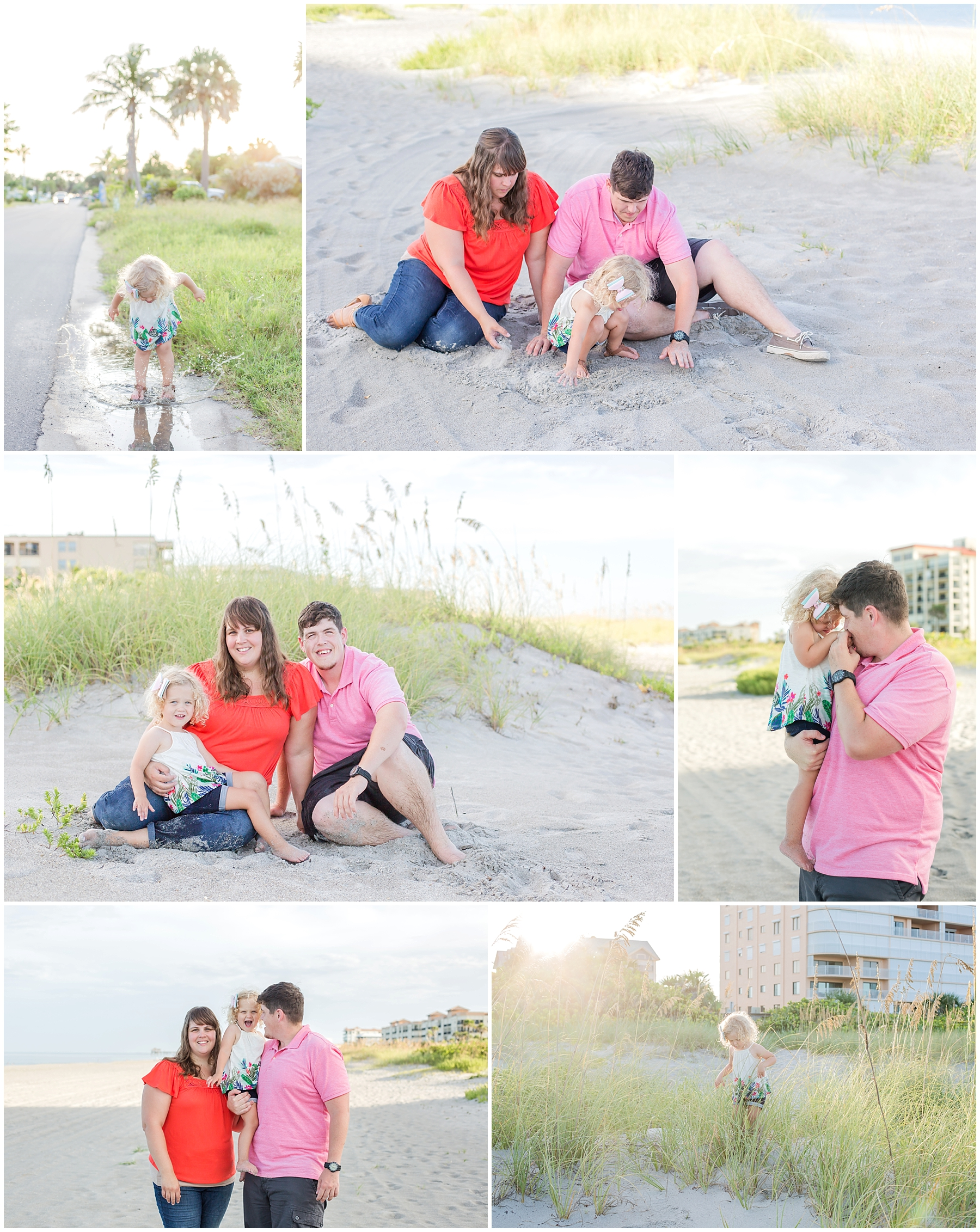 I loved photographing this sweet family at Cocoa Beach! Harper was just the sweetest!