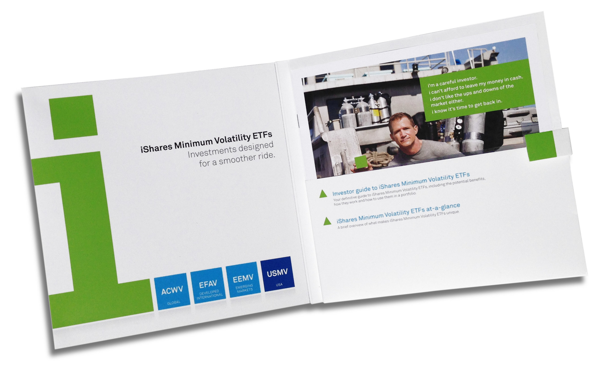 Folder with investor guide and product overview
