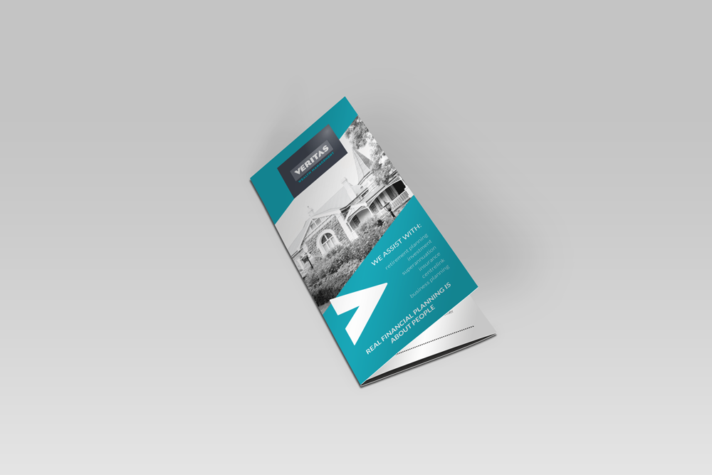 Veritas Wealth Management - custom brochure design - financial planner | Gorjo Designs