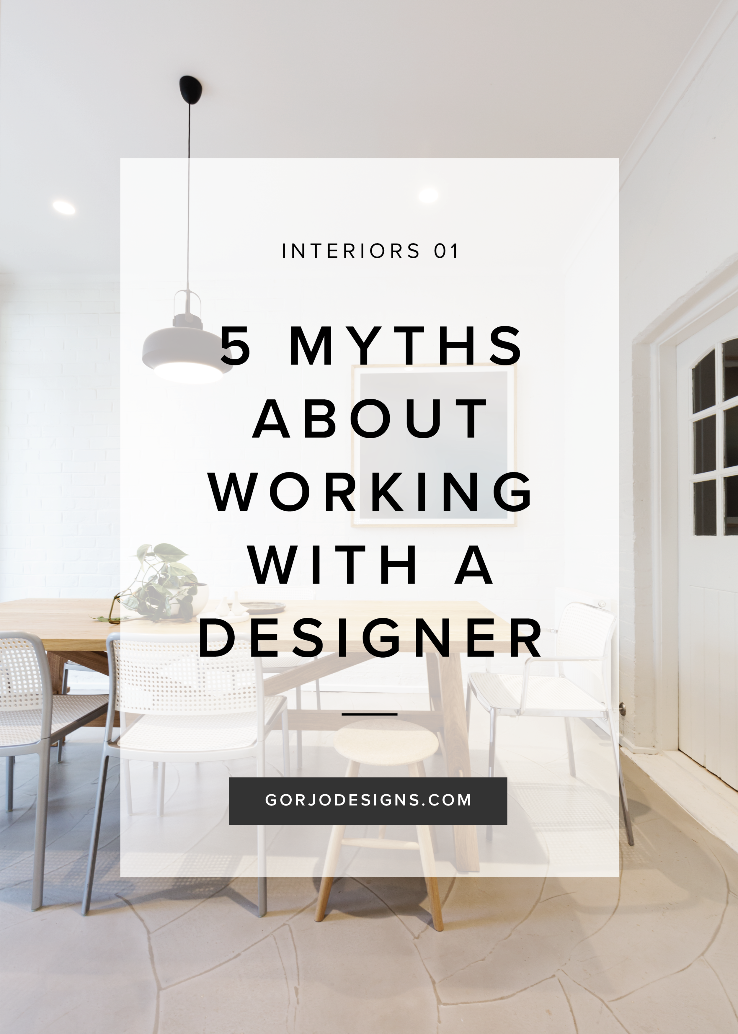 5 myths about working with a designer | Gorjo Designs blog