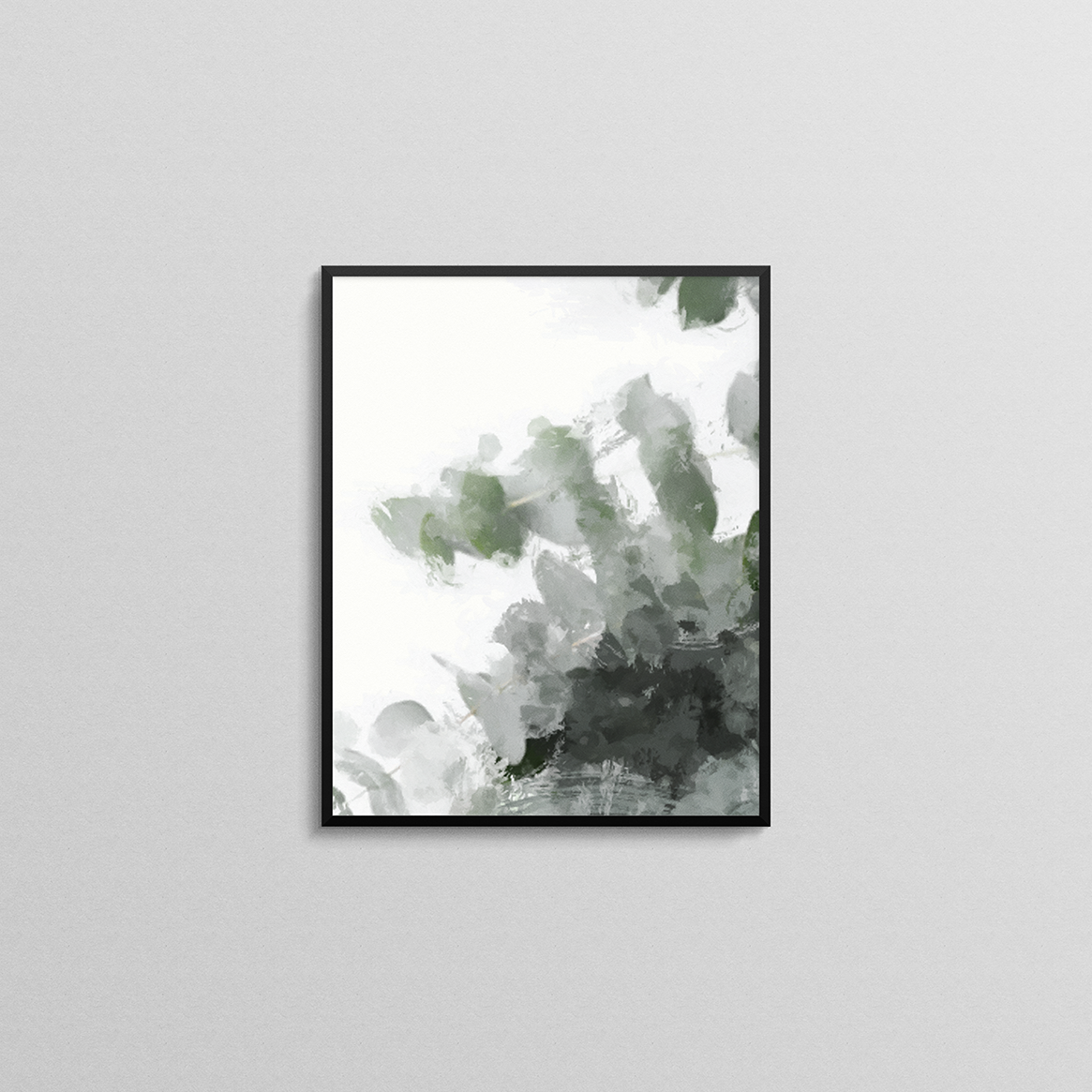Green Leaves Abstract Print