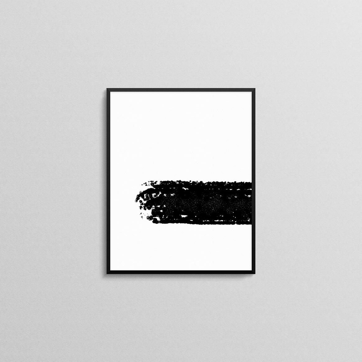 Brush Abstract Print