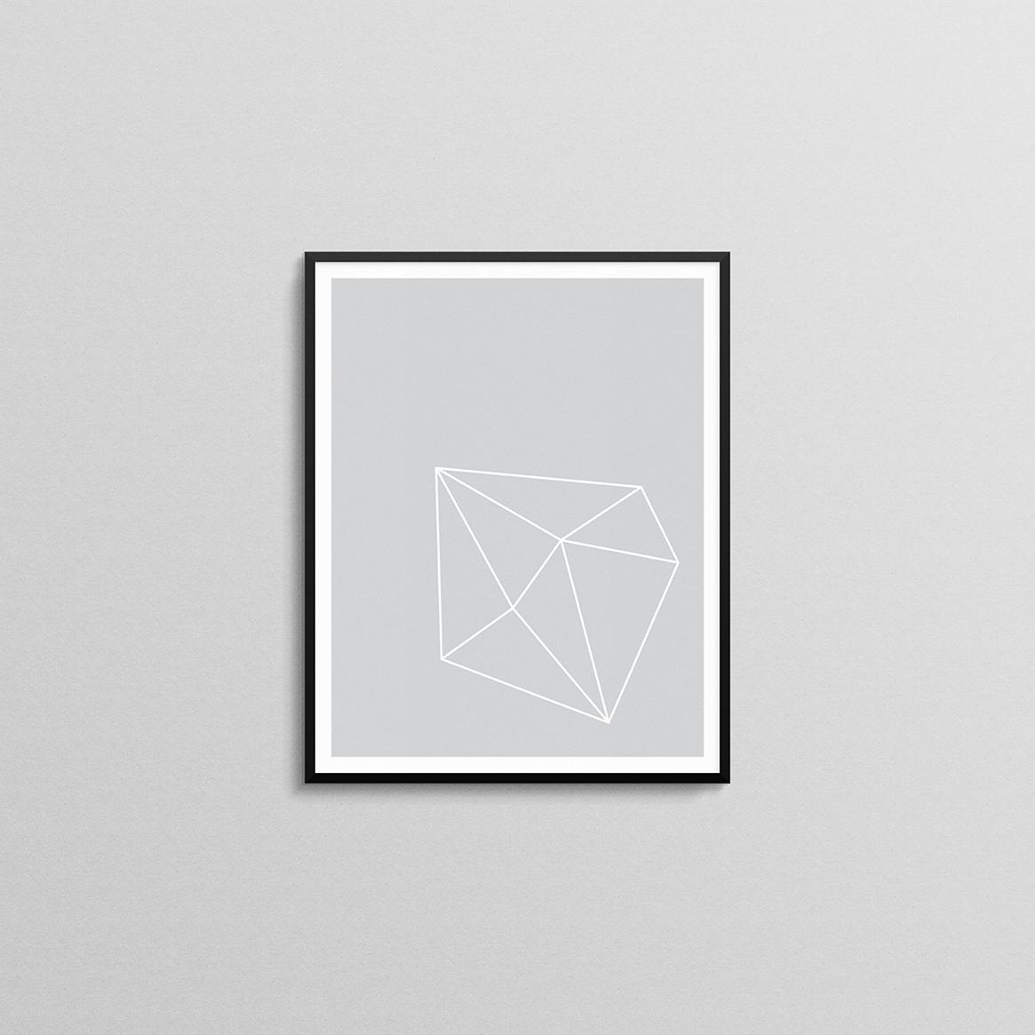 Grey and White Geometric Shape