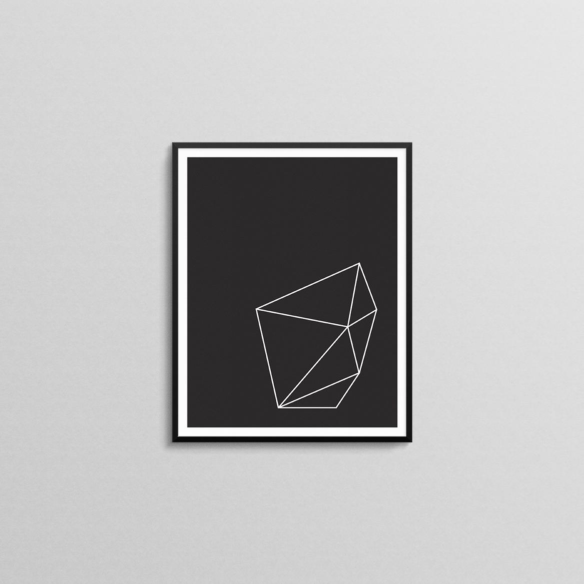 Black and White Geometric Shape