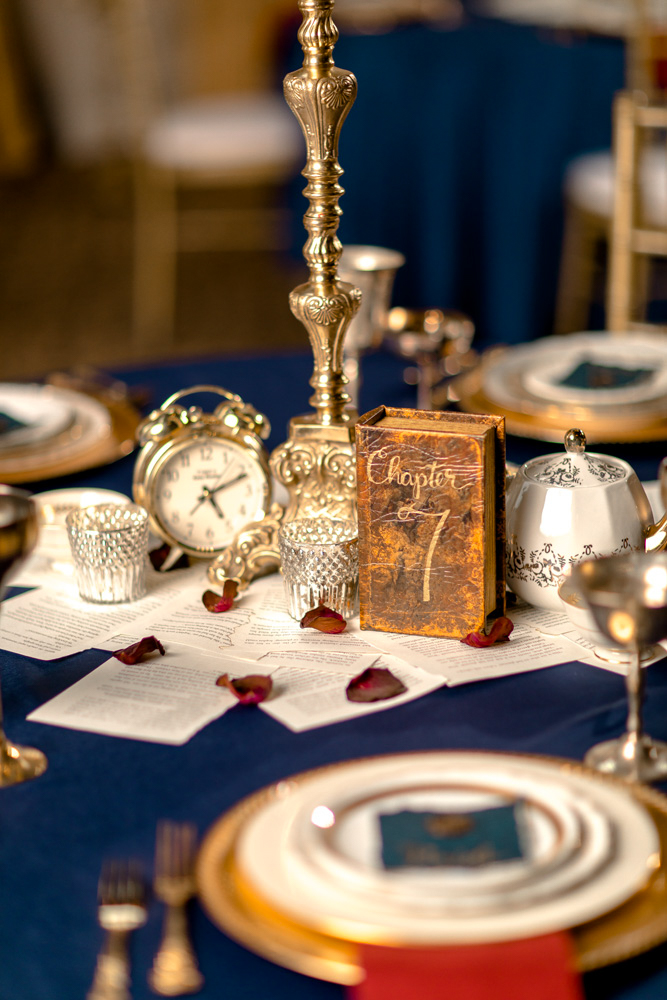 Beauty and the Beast Wedding Table - Better Together Photography