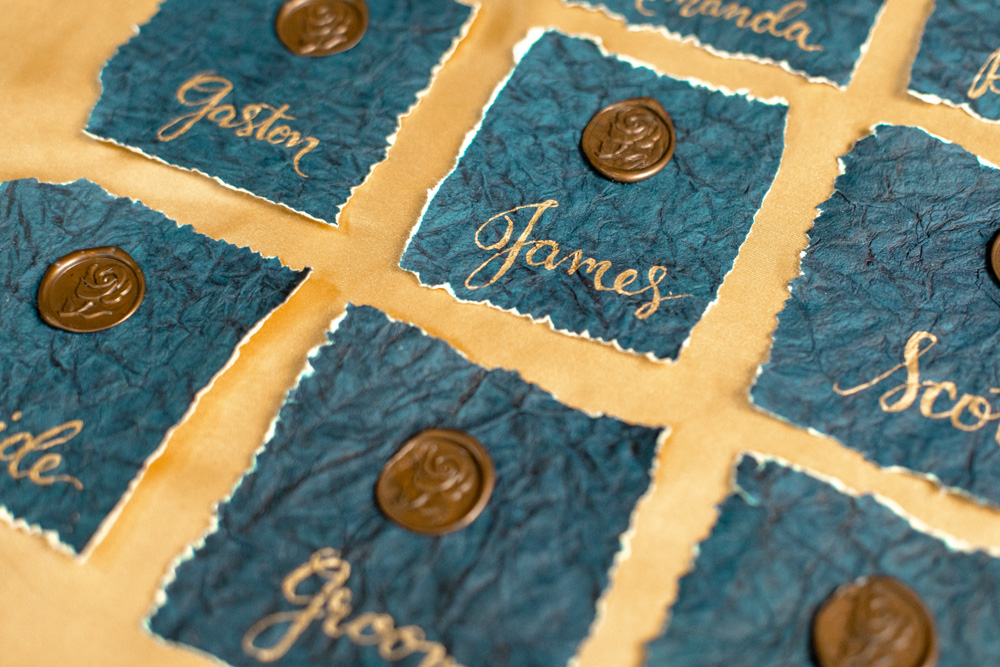 Beauty and the Beast Wedding Name Cards - Better Together Photography