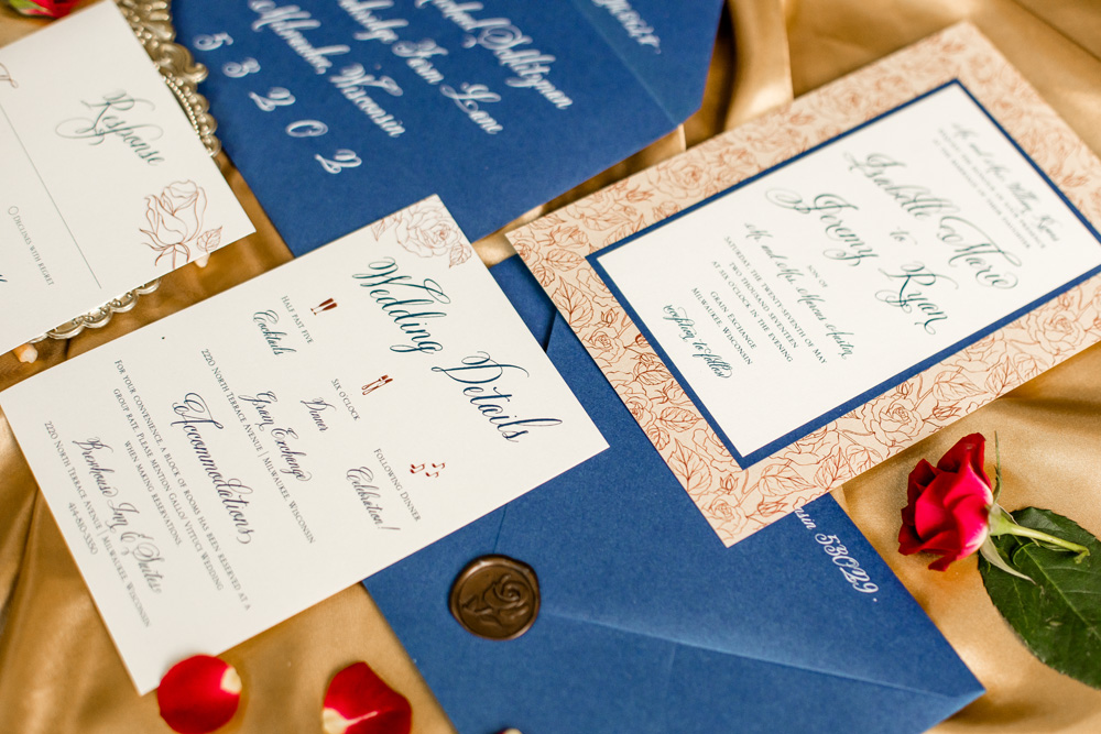 Beauty and the Beast Wedding Invitations - Better Together Photography