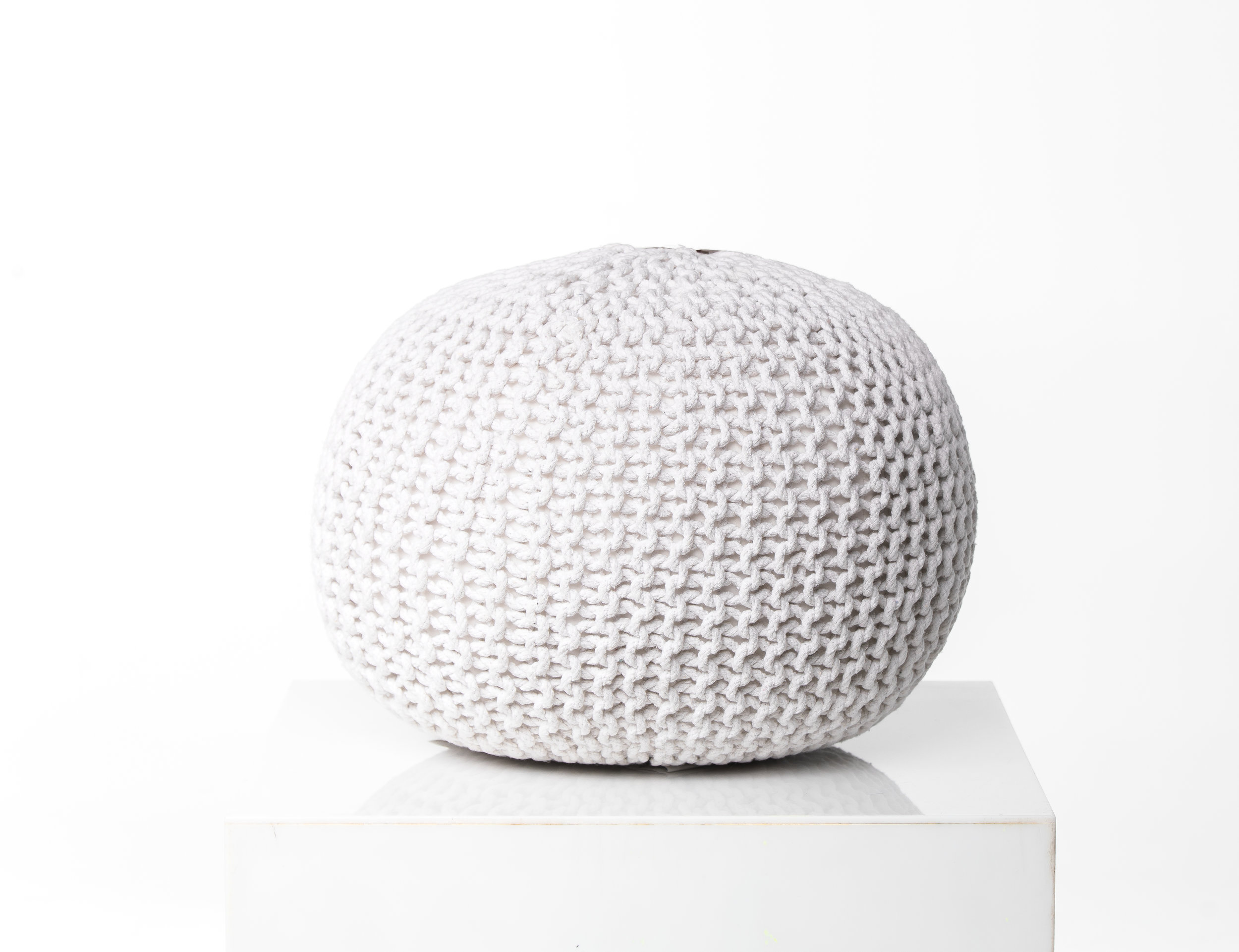 WOVEN POOF STOOL