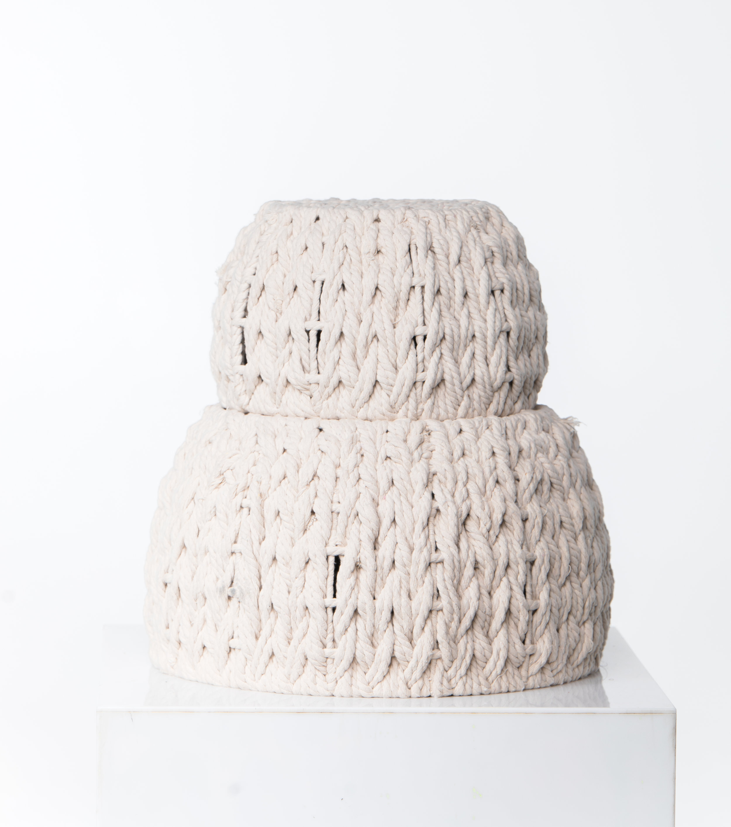 STACKED WOVEN BASKETS