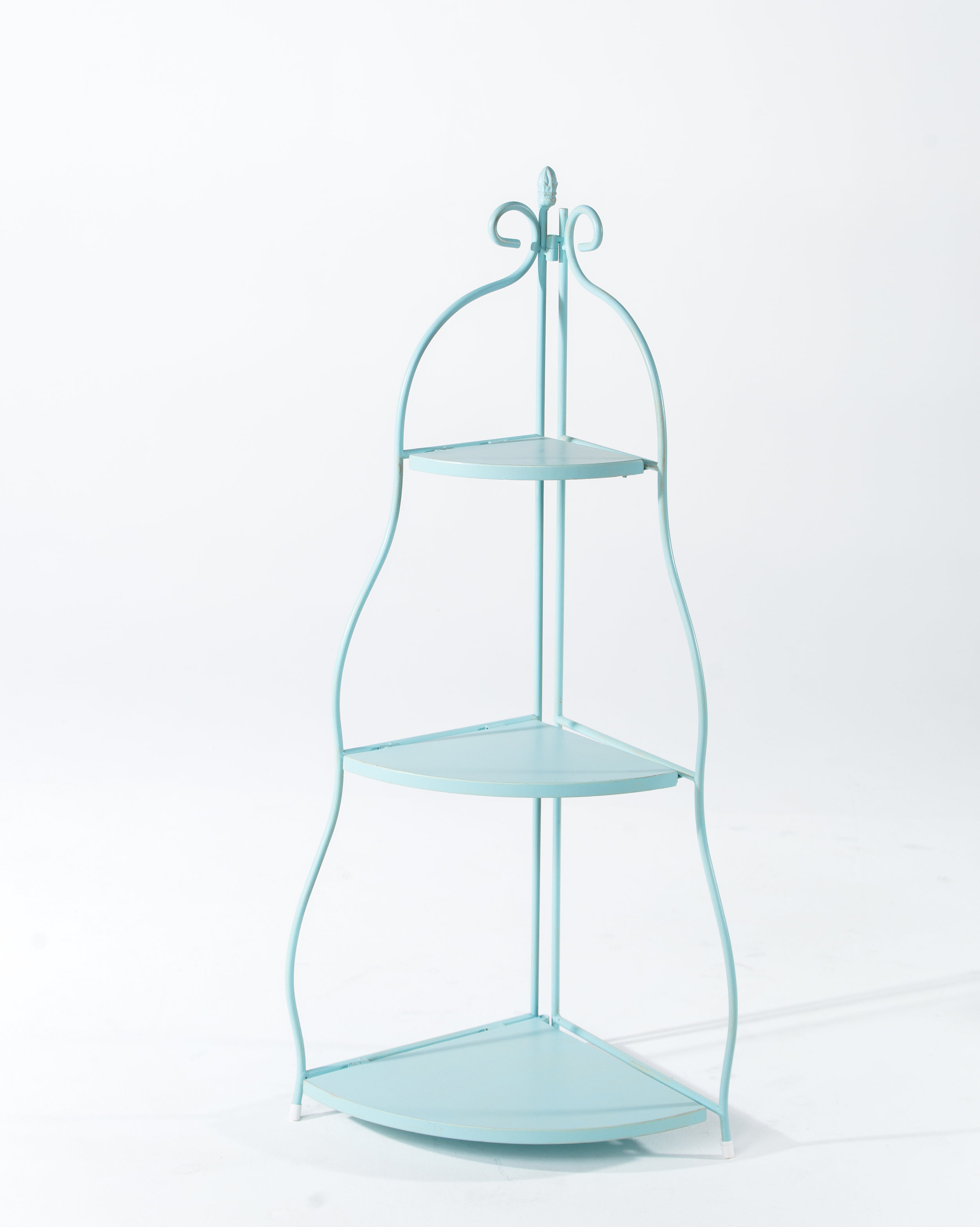 METAL CORNER SHELF (AQUA)