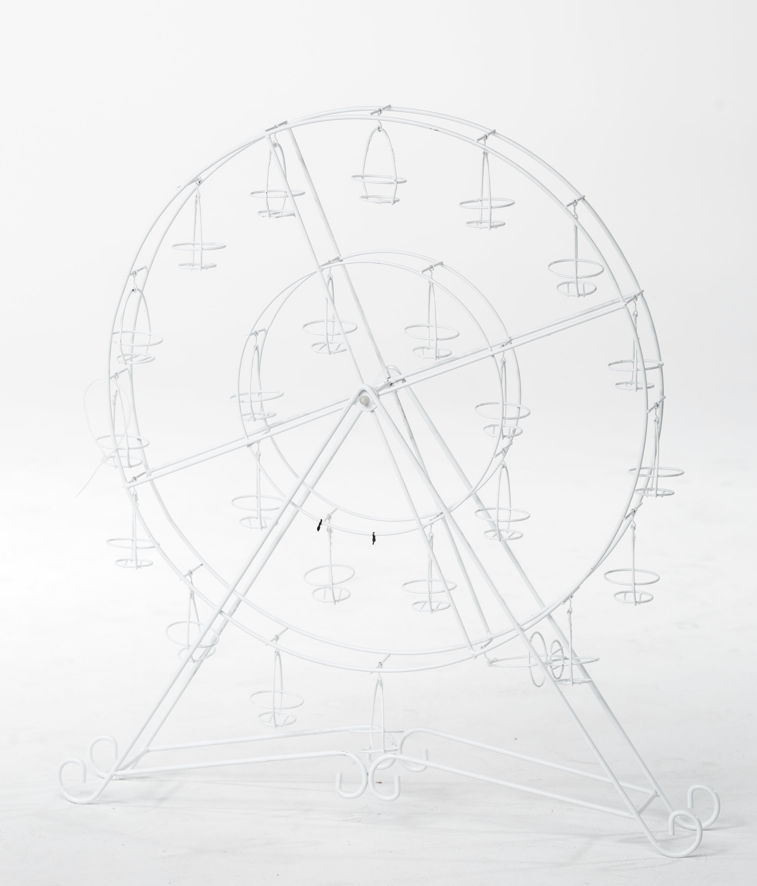 GIANT FERRIS WHEEL CUPCAKE STAND (WHITE)