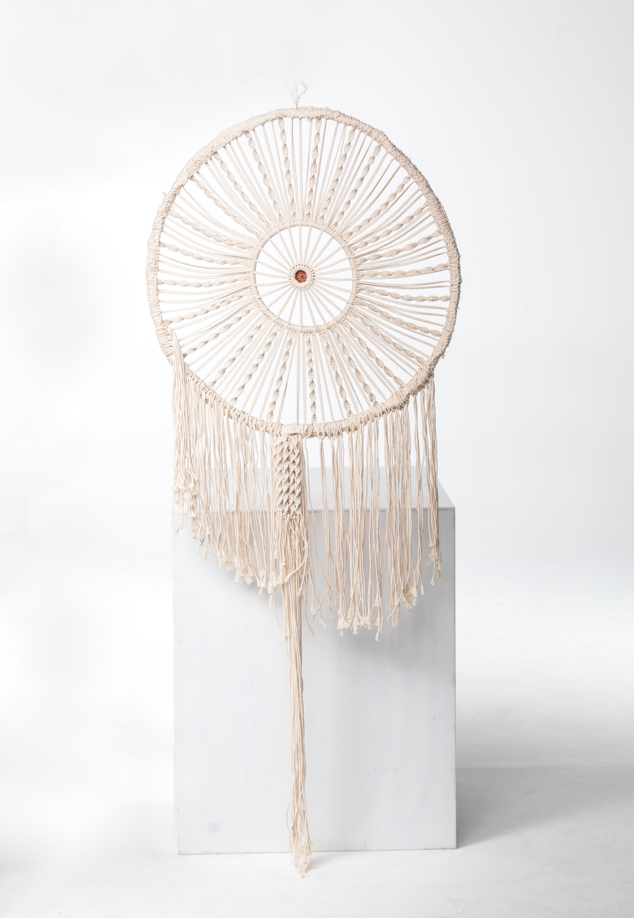 GIANT DREAM CATCHER (CREAM)